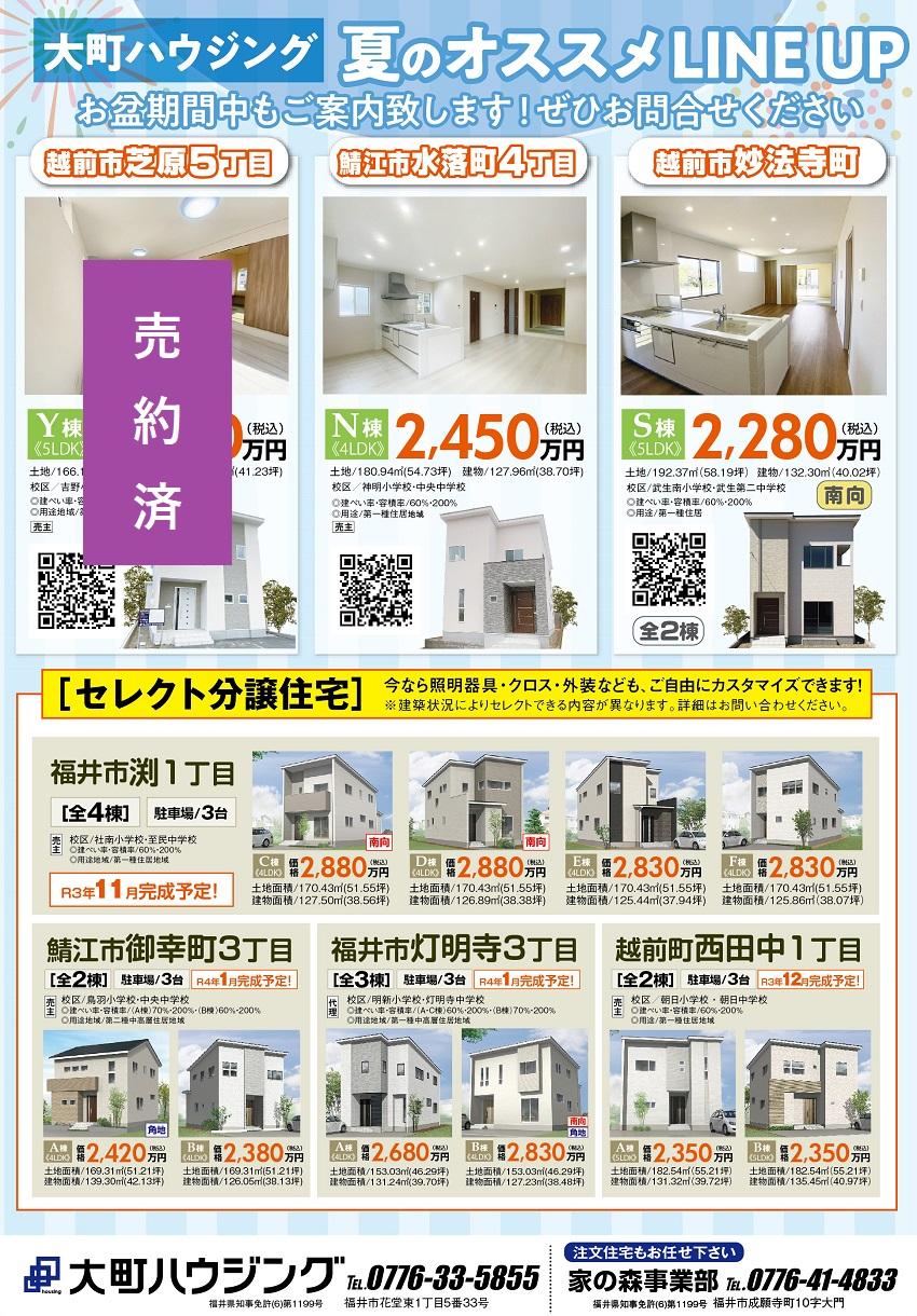 福井新築分譲住宅購入